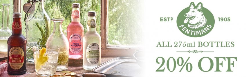 20% Off Fentimans 275ml July August 2020