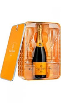Veuve Clicquot - Yellow Label Tin Glass Pack