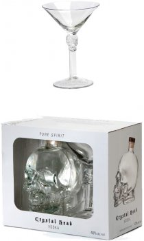 Crystal Head Vodka - Gift Pack With Vodka Martini Glass