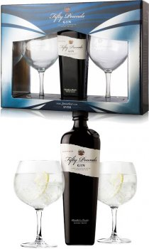Fifty Pounds - Gin Twin Glass Pack
