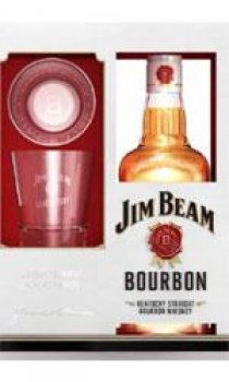 Jim Beam - White Label Glass Pack