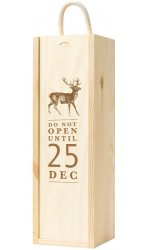 Wooden Box With 'Do Not Open Until 25th December' Lid - 1 Bottle