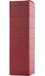 Burgundy Fluted Gift Carton - 1 Bottle