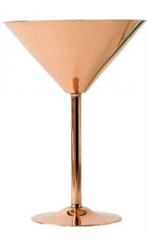 Solid Copper - Martini Glass