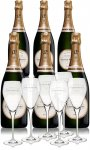 Laurent Perrier - La Cuvée Case With 6 Glass Gift Pack
