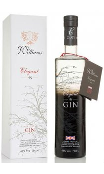 Chase Distillery - Elegant Crisp Gin in white gift box