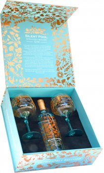 Silent pool gin with 2 copa glasses - Silent pool gin ...