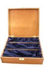 Hardwood, Silk Lined Box - 3 Bottle