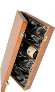 Hardwood, Silk Lined Box - 6 Bottle