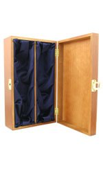 Hardwood, Silk Lined Box - 2 Bottle