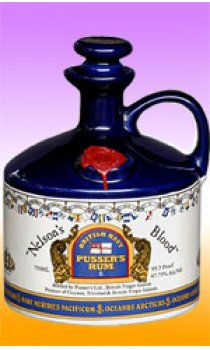 PUSSERS - Nelsons Blood Flagon Ceramic Decanter
