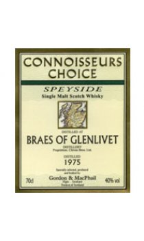 BRAES OF GLENLIVET - 1975 Gordon & MacPhail Connoisseurs Choice Range
