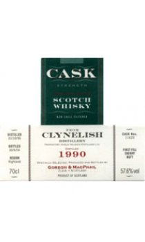 CLYNELISH - 1995 Gordon & MacPhail Cask Strength Range