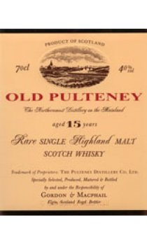 Old Pulteney - 15 Year Old Gordon & MacPhail Highland Malt Range