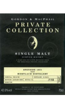 MORTLACH - 1951 The Private Collection Range