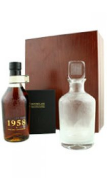 HIGHLAND PARK - Distilled 1958 With Hand Blown Decanter & Book