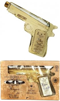 Hijos de Villa - Tequila Reposado Pistol With Glasses