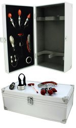 Aluminium Case - 2 Bottle With Wine Accessories