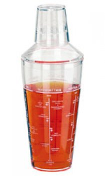 PADERNO - 420ml Acrylic Shaker with Measurements