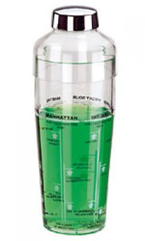 PADERNO - 660ml Acrylic Shaker with Measurements