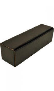 Black Gift Box - 1 Bottle Open Fluted