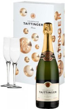 Taittinger - Brut Reserve & 2 Glass Pack