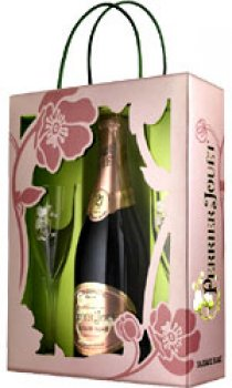 PERRIER JOUET - Blason Rose With 2 Flutes