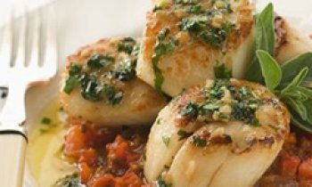 Recipe Seared Scallops with Herb Butter